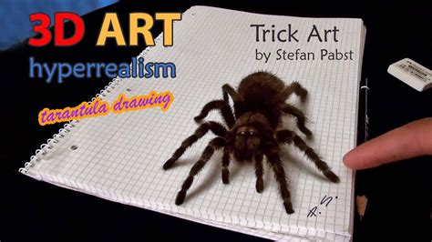 3d Drawing 3d spider drawing amazing realistic illusion youtube