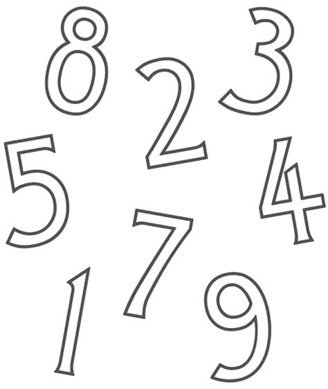 Numbers For Preschool Free Coloring Pages Preschool Number Coloring Pages
