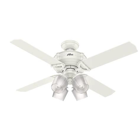 52 ceiling fan with light and remote brunswick 52 in led indoor fresh white ceiling fan