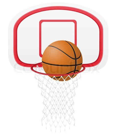 basketball basket and vector illustration stock