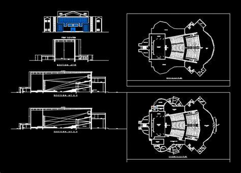 auditorium dwg plan  autocad designs cad