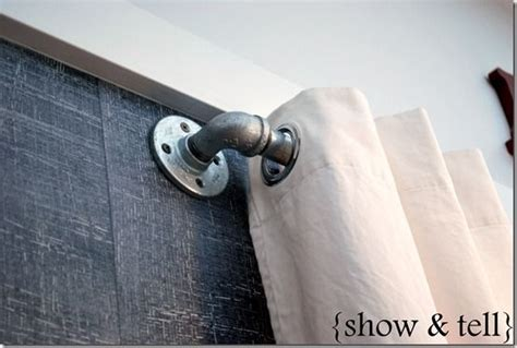 metal pipe curtain rod pin by connie kelsch on curtains blinds shades pinterest