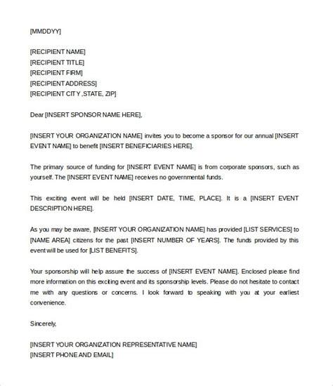 Invitation Letter Doc sponsorship invitation letter cobypic