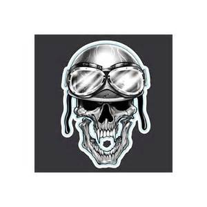 sticker skull helmet motorcycle amt custom shop