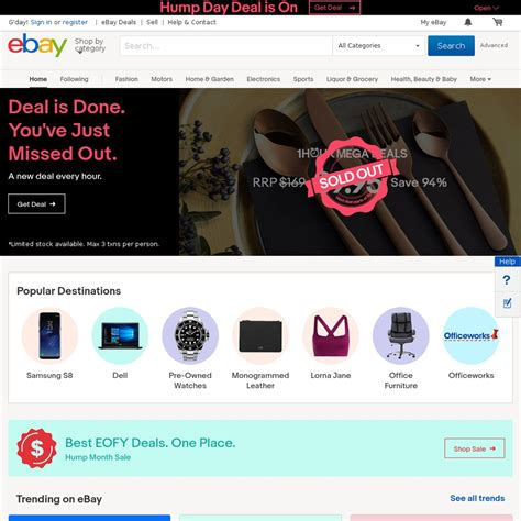 ebay ozbargain ebay 15 off sitewide minimum 75 spend until midnight
