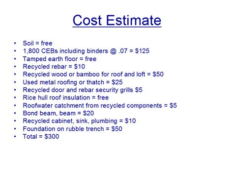 estimate house building cost 300 geopolymer ceb house the 300 house challenge
