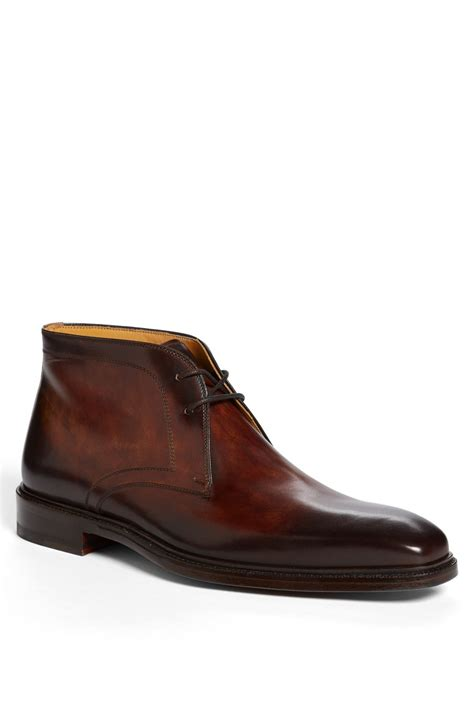 magnanni cid chukka boot in brown for mid brown lyst