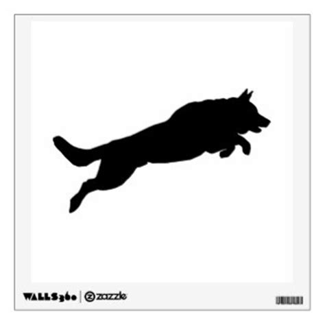 free business cards templates german shepherd silhouette jumping framed artwork zazzle
