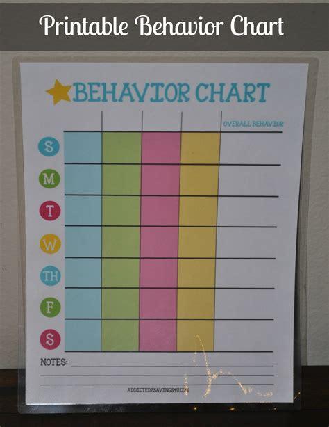 printable behavior chart a spark of creativity