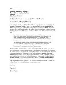 Rent Deduction Letter Best Photos Of Letter To Landlord Deposit Landlord Security Deposit Return Letter Security