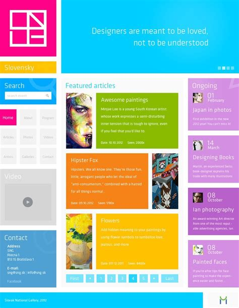 latest layout design for website 17 web design images blocks images web page contents