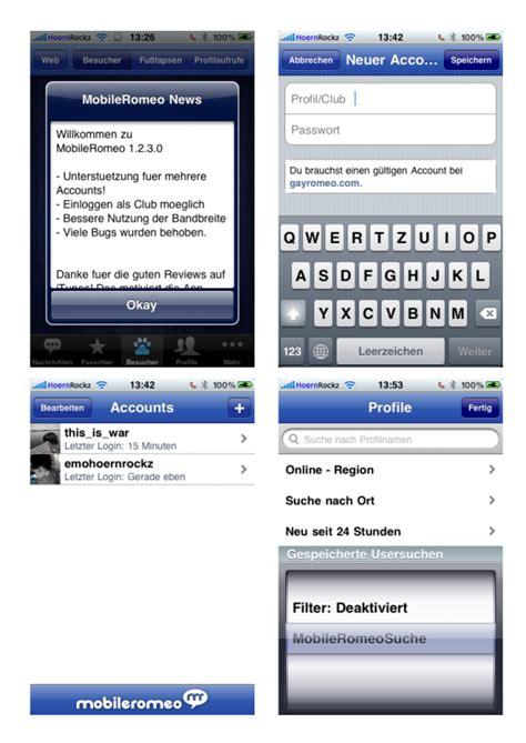 mobile romeo mobileromeo v1 2 5 ein iphone app f 252 r gayromeo update