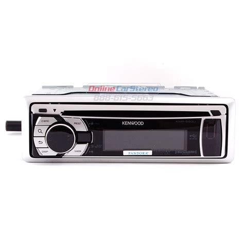 kenwood kmr 550u silver marine cd mp3 receiver with front