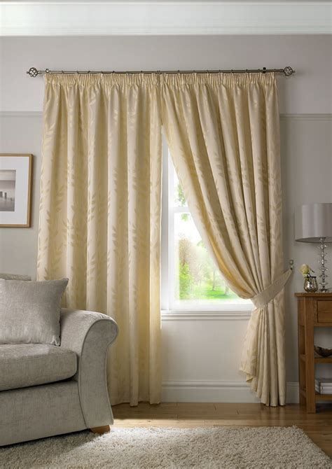 jacquard curtains cream cream woven jacquard trailing leaf pencil pleat curtains