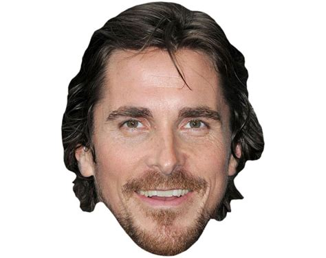 bale needs a hair cut cardboard cutout celebrity christian bale mask