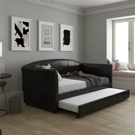 Daybed Sofa With Trundle by Halle Upholstered Daybed And Trundle Dhp Furniture