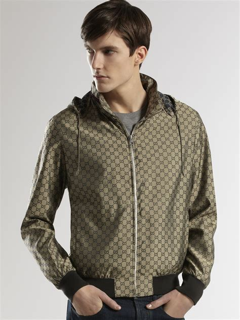 Jaket Fashion Gucci 5 gucci gg kway jacket in gray for lyst