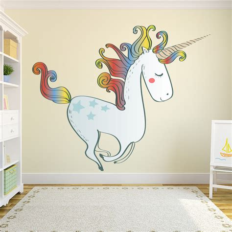 large unicorn wall sticker nursery wall decal girls bedroom home decor ebay