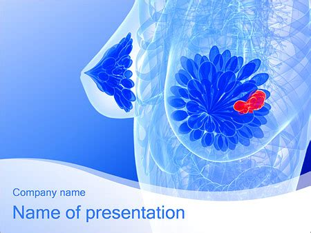 anatomy breast picture powerpoint template backgrounds
