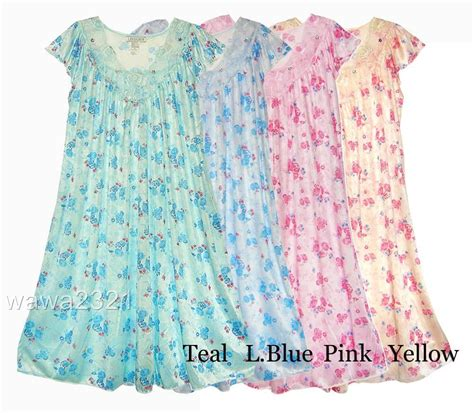 Original Hm Soft Lace Sleepwear silky floral lace sleeve womens nightgown sleepwear