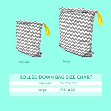 Planet Wise Bag Medium Teal Chevron planet wise medium roll bag