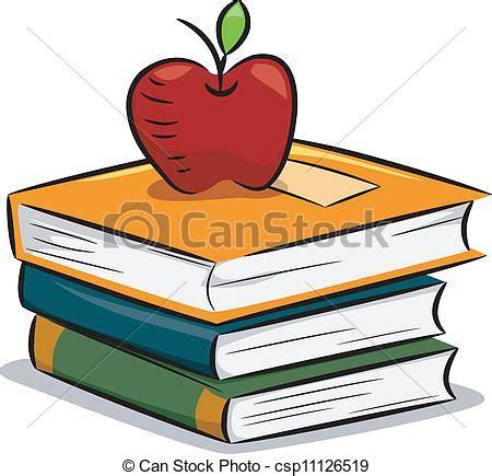 clipart libro vector clip de libros manzana ilustraci 243 n de un