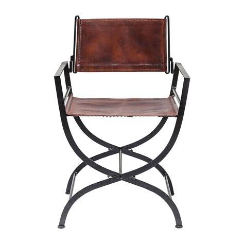 Chaise Pliante Design Pas Cher by Chaise Colonial Pliante En Cuir Marron Mafalla Kare Design