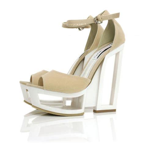 buy needit cut out wedge heel platform shoes suede