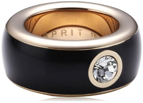 Esprit 557 Ring Silver by Offiziell Esprit Jewels Damen Ring Edelstahl Fancy Black