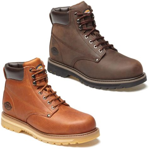 mens work boots uk new mens dickies welton brown or lace up resistant