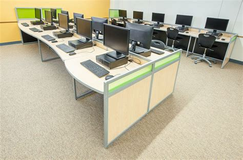 school computer room design computer lab furniture customized for any space by interior concepts