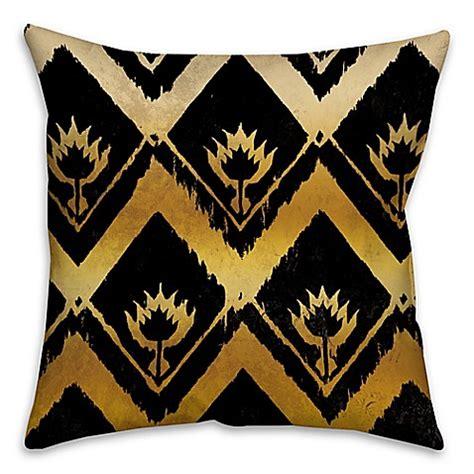 Kain Tenun Ikat Blangket 16 ikat 16 inch square throw pillow in black gold bed bath beyond