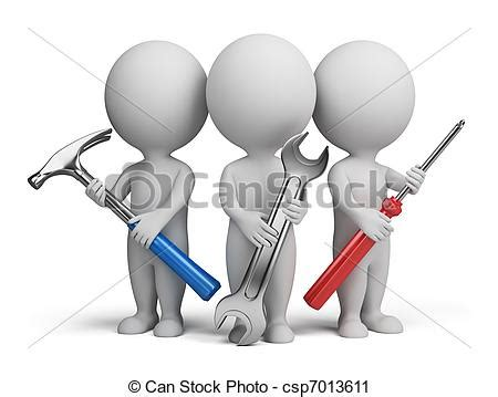 can stock photo clipart clipart of 3d small repairers three 3d