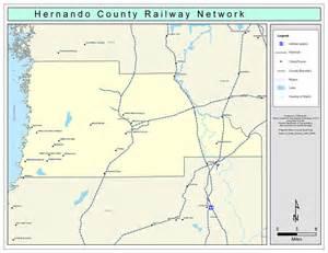 hernando florida map hernando county railway network color 2009
