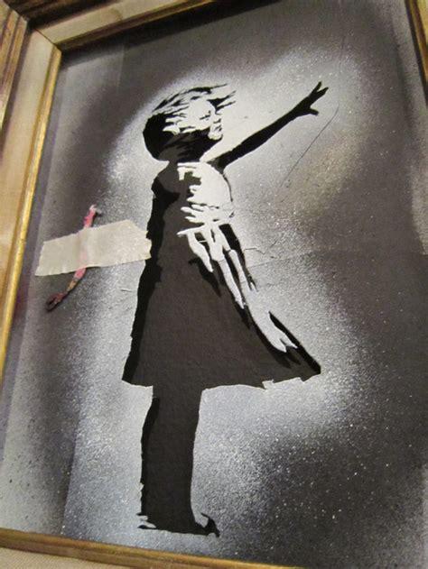 melroseandfairfax banksys balloon girl stencil
