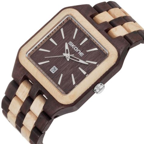 skone casual wood bamboo quartz 7398