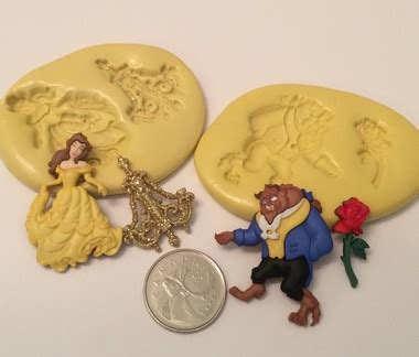 beauty   beast silicone mold set christines molds