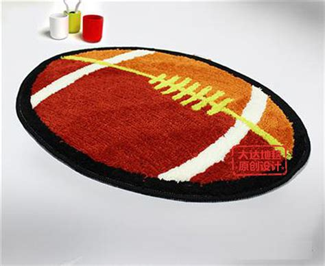 football rugs lovely rugby football bathroom rug l2201 bingo e commerce