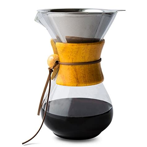 Dripper Two Drip Dripper Manual Brew Glass Stainless Stand compare price drip coffee glass carafe on statementsltd