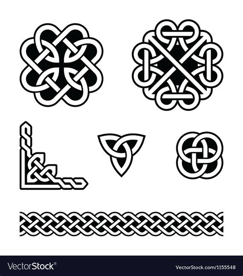 celtic knots patterns royalty free vector image
