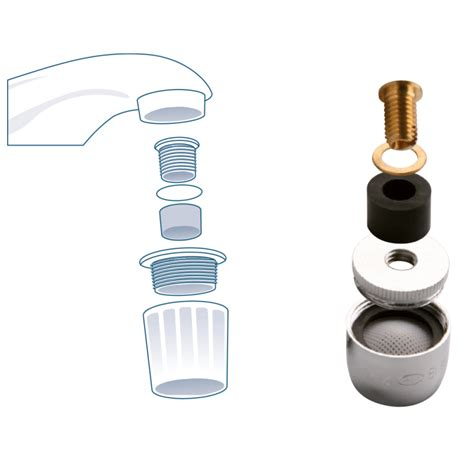 Plumbing Aerator by Threadless Faucet Aerator Orfesa S A