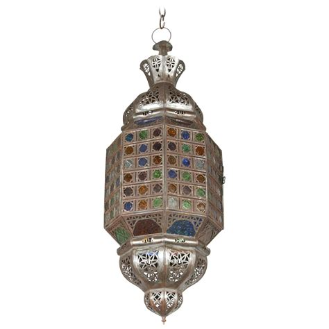 Moroccan Light Fixtures Moroccan Crafted Light Fixture With Multicolor Glass For Sale At 1stdibs