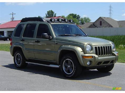 dark green jeep liberty 2003 cactus green pearl jeep liberty renegade 4x4