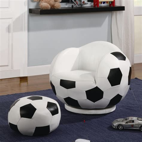 soccer ball chair with ottoman kids sports chairs small kids soccer ball chair and
