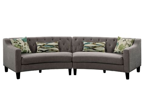 grey linen sectional sofa sarin sectional sofa cm6370 in gray linen like fabric w
