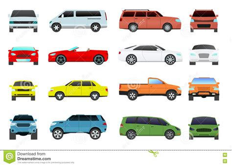 Car Wheel Types by Car Types Vector Set Stock Vector Illustration Of Icon