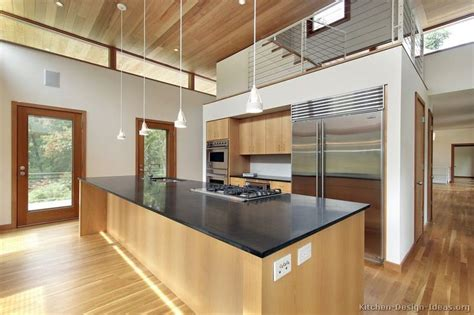 Kitchen Cabinets With High Ceilings Kitchen Of The Day Contemporary Kitchen With High Ceilings Light Wood Cabinets Modern