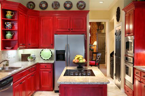 red painted kitchen cabinets colorful painted kitchen cabinets for eye catching looks