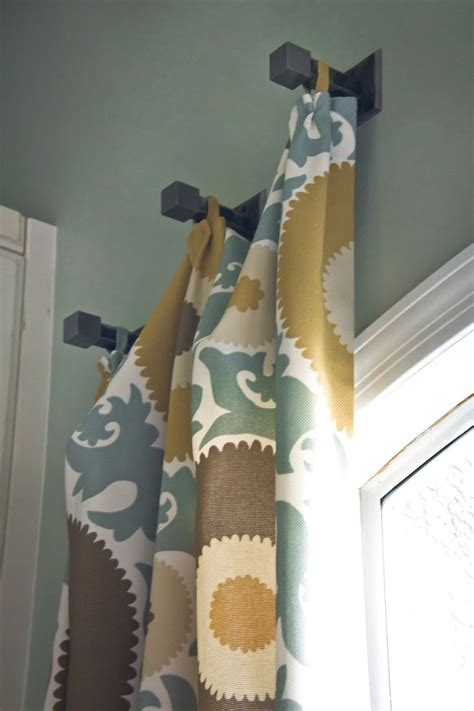 Different Way To Hang Curtains Decorating 1000 Ideas About Hanging Curtain Rods On Pinterest Hanging Curtains Curtain Rods And