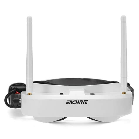 Eachine Ev100 5 8g 72ch Fpv Goggles Dual Antennas Hitam cheap eachine ev100 720 540 5 8g 72ch fpv goggles with dual antennas fan 7 4v 1000mah battery